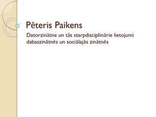 Pēteris Paikens