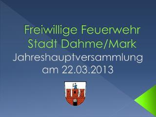 Freiwillige Feuerwehr Stadt Dahme/Mark