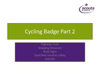 Cycling Badge Part 2