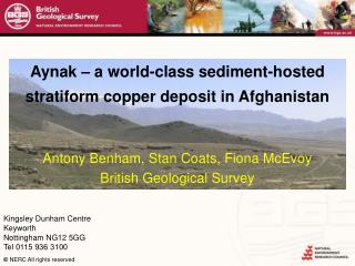 Aynak   a world-class sediment-hosted stratiform copper deposit in Afghanistan