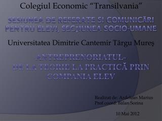 """Colegiul  Economic """" Transilvania """""""