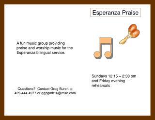 Esperanza Praise