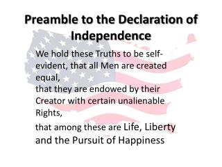 Preamble to the Declaration of Independence