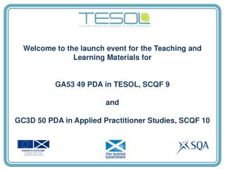 Welcome to the launch event for the Teaching and Learning Materials for