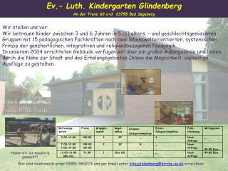 Ev.- Luth. Kindergarten Glindenberg