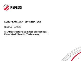 EUROPEAN IDENTITY STRATEGY