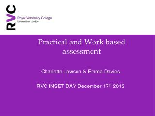 Practical and Work based assessment