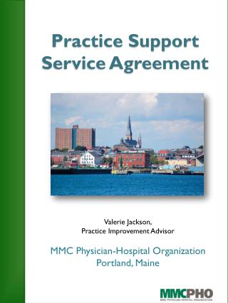 Practice Support Service Agreement