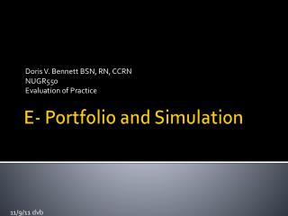 E- Portfolio and Simulation