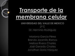 Transporte de la membrana celular