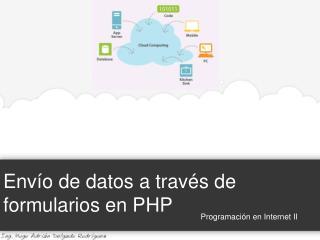 Envío de datos a través de formularios en PHP