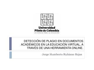Jorge Humberto Rubiano Rojas