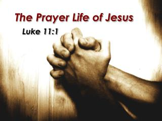 The Prayer Life of Jesus