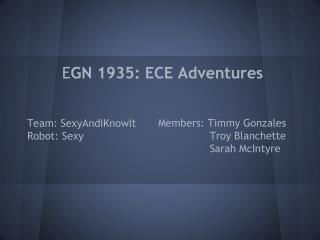 E GN 1935: ECE Adventures