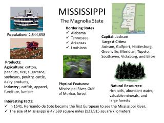 MISSISSIPPI  The Magnolia State