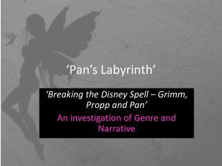 'Pan's Labyrinth'