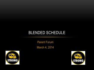 Blended schedule