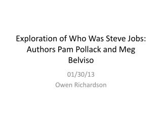 Exploration of Who Was Steve Jobs: Authors Pam Pollack and Meg  Belviso