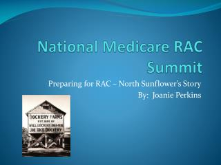 National Medicare RAC  Summit