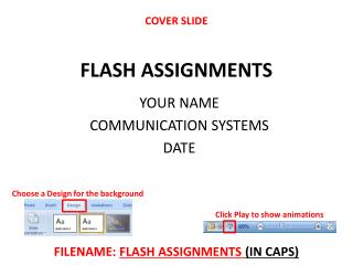 FLASH ASSIGNMENTS