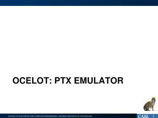 Ocelot: PTX Emulator