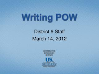 Writing POW