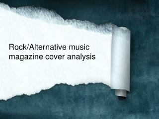 Rock/Alternative music magazine cover analysis