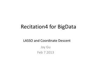 Recitation4  for  BigData
