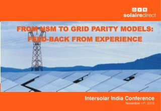 Intersolar  India Conference November 11 th , 2013
