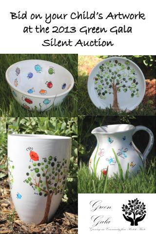 Bid on your Child's Artwork at the 2013 Green Gala Silent Auction