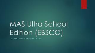 MAS Ultra School Edition (EBSCO)