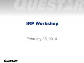 IRP Workshop