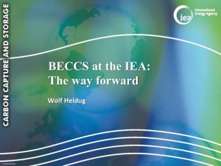 BECCS at the IEA:  The way  forward