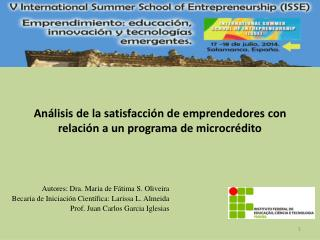 Análisis de la satisfacción de emprendedores con relación a un programa de microcrédito