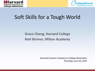 Soft Skills for a Tough World