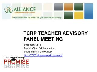 TCRP Teacher Advisory Panel Meeting