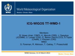ICG-WIGOS TT-WMD-1