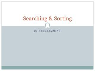 Searching & Sorting