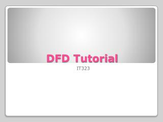 DFD Tutorial