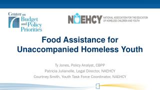 Food  Assistance for Unaccompanied Homeless Youth