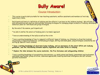 Bully Aware!