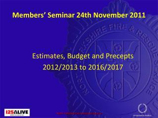 Members' Seminar 24th November 2011