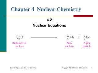 Chapter 4  Nuclear Chemistry