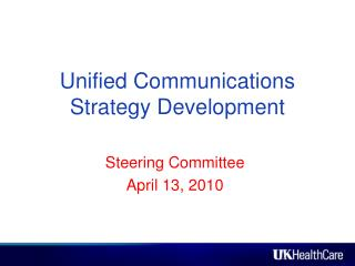Unified Communications Strategy Development