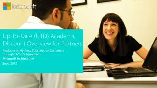 Up-to-Date (UTD) Academic Discount  Overview for Partners