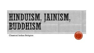 Hinduism, Jainism, Buddhism
