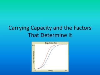 Carrying  Capacity and the Factors That Determine It