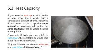 6.3 Heat Capacity