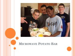 Microwave Potato Bar