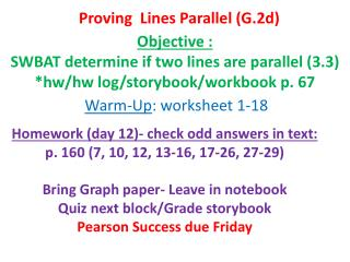Proving  Lines Parallel (G.2d)